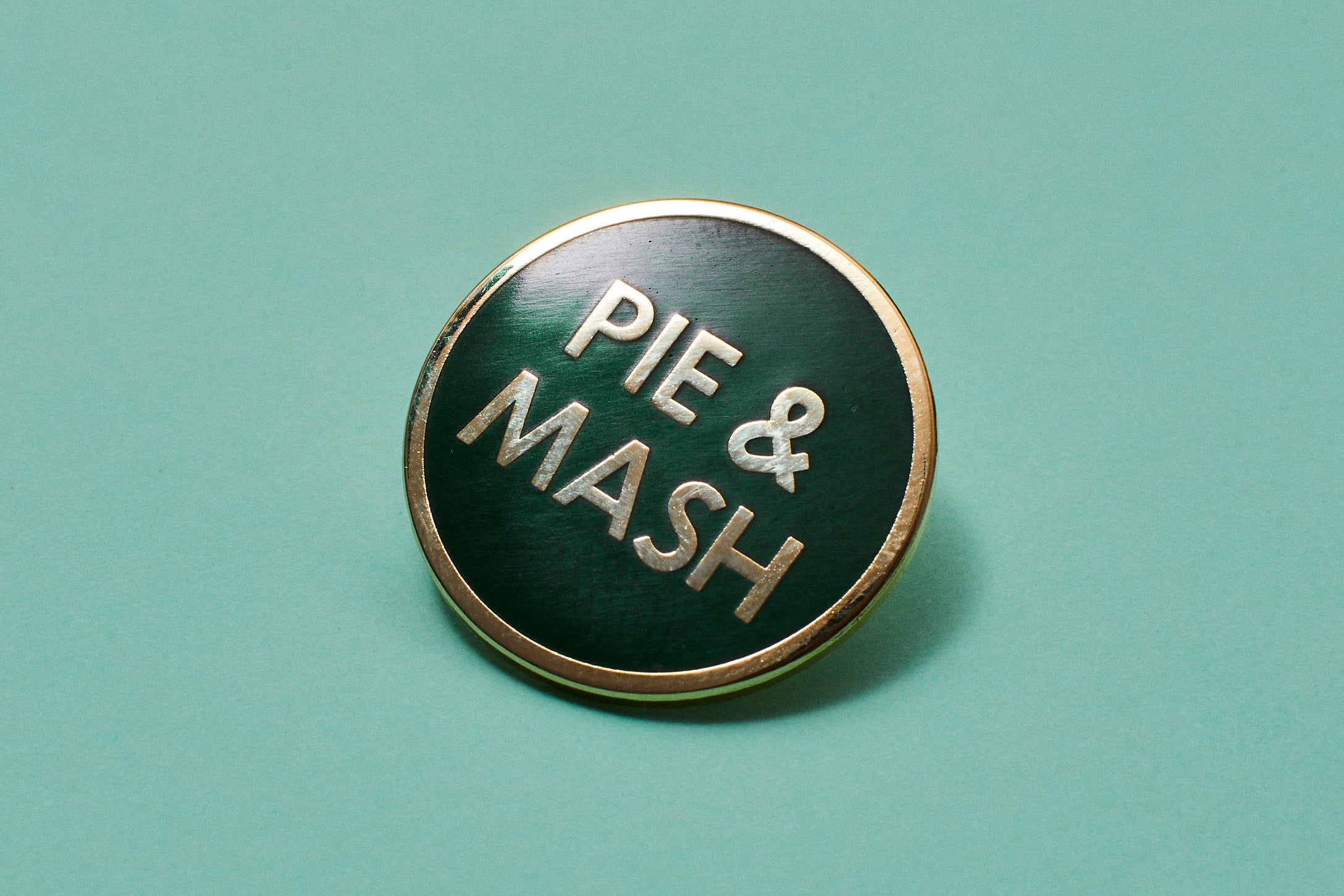 Pie & Mash Enamel Pin Badges