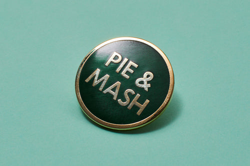 Pie & Mash Enamel Pin Badge