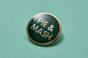 BACK IN STOCK - Pie & Mash Enamel Pin Badge