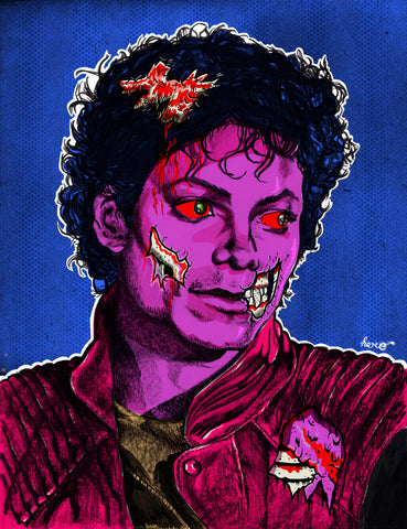 Tribute to Michael Jackson Thriller Design By Hero T-Shirt