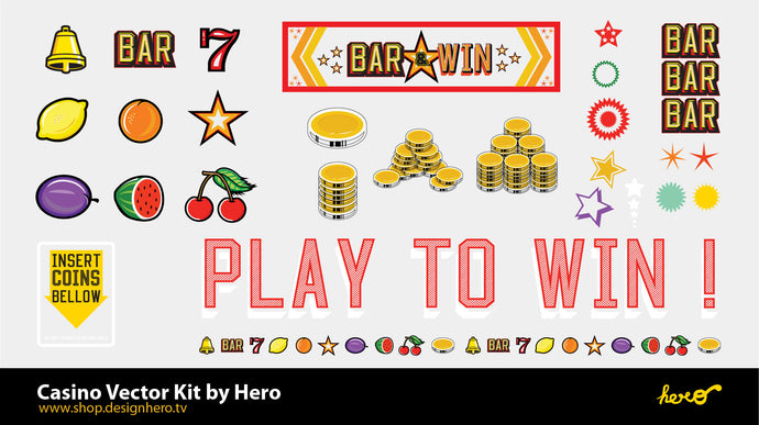 Casino Vector Kit Design By Hero. - shop.designhero