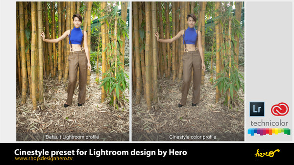Cinestyle Preset for Lightroom by Hero. - shop.designhero