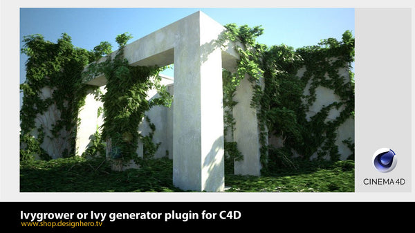Ivy generator or Ivygrower plugin for C4D. - shop.designhero