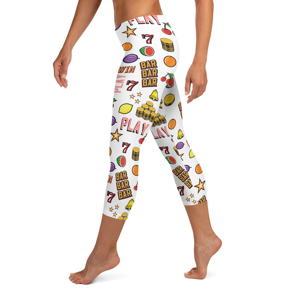 """Casino"" Capri Leggings design by Hero. - shop.designhero"