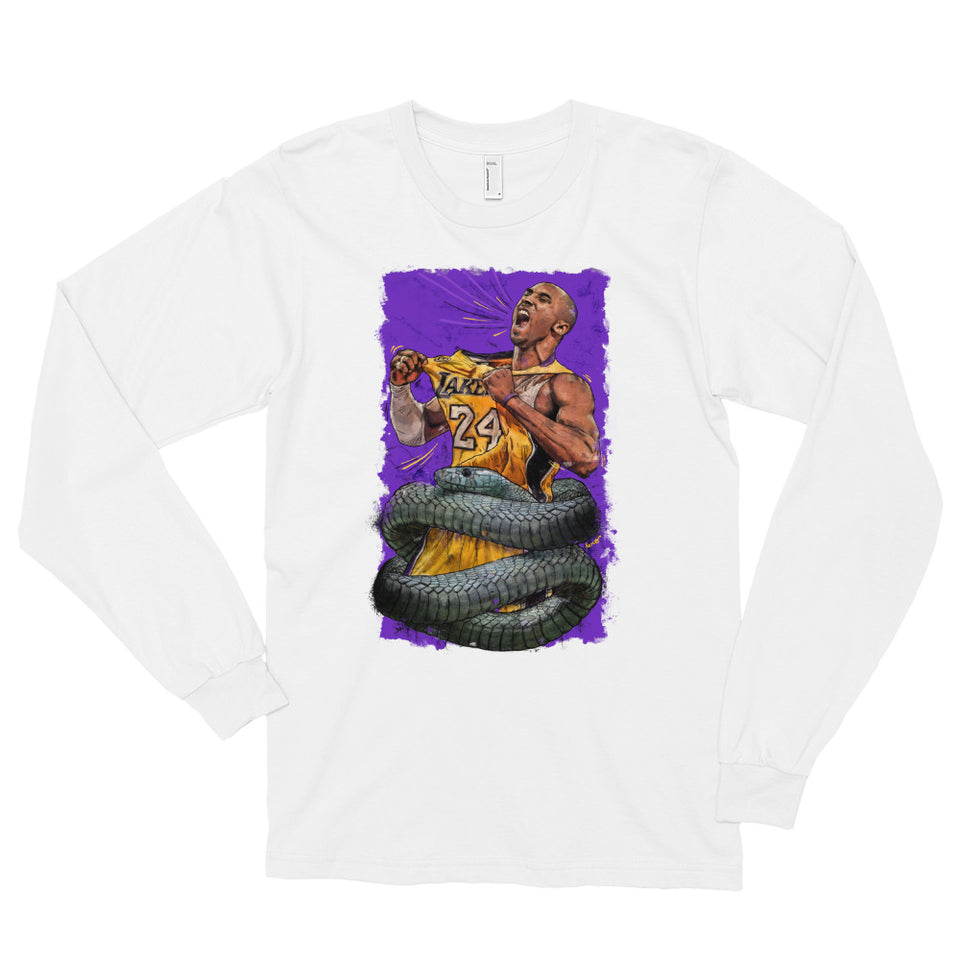 """The Black Mamba"" Tribute to Kobe Bryant Long sleeve t-shirt - shop.designhero"