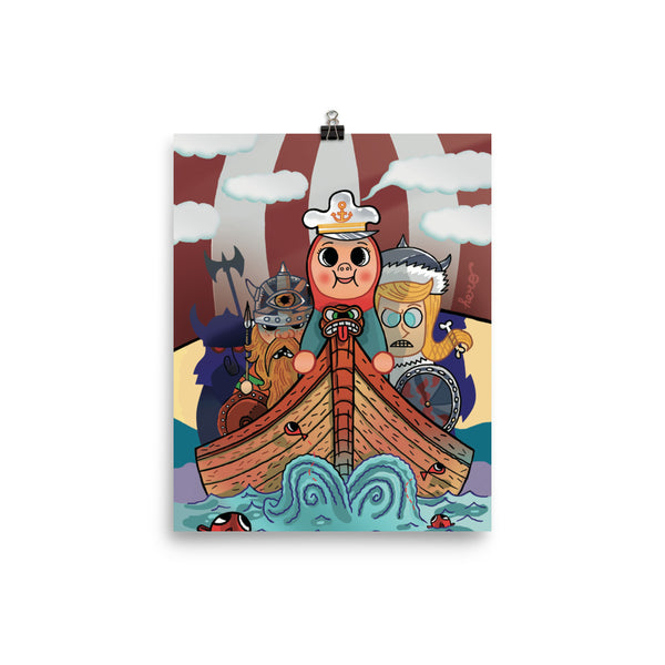 """My Viking Friends"" Collectible Poster design by Hero. - shop.designhero"