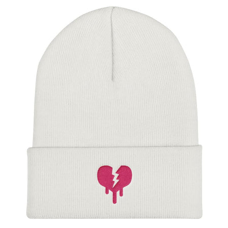 """Broken heart"" Cuffed Beanie design by Hero. - shop.designhero"