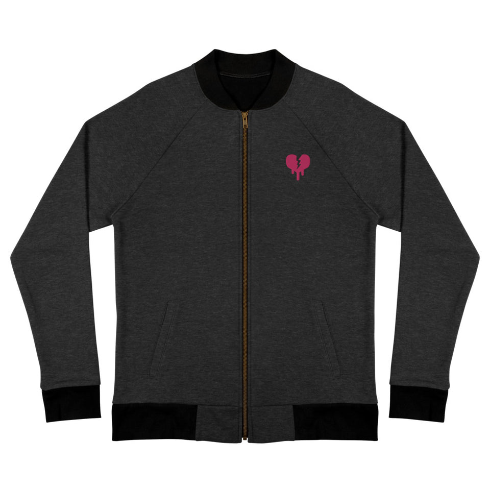 """Broken Heart"" Bomber Jacket design by Hero. - shop.designhero"