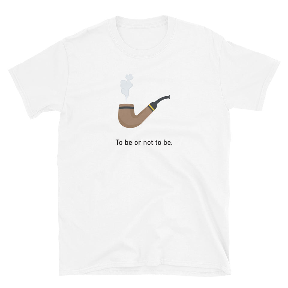 """To Be Or Not To Be"" Short-Sleeve Emoji Unisex T-Shirt - shop.designhero"