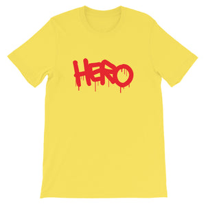 """Hero"" Short-Sleeve Unisex T-Shirt design by Hero. - shop.designhero"