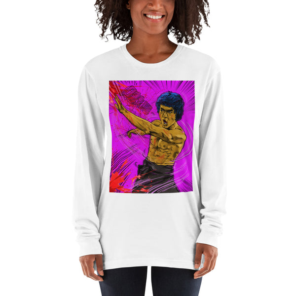 """Bruce Lee"" Long sleeve t-shirt - shop.designhero"