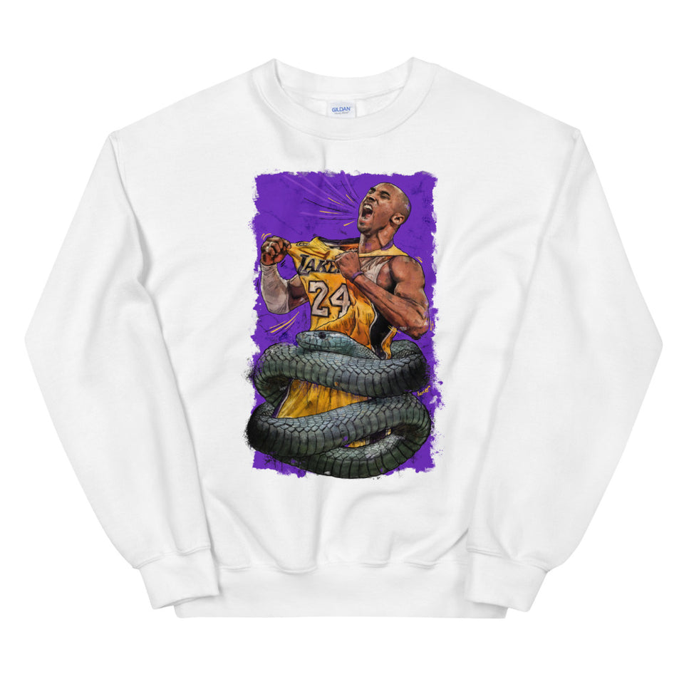 """The Black Mamba"" Tribute to Kobe Bryant Unisex Sweatshirt - shop.designhero"