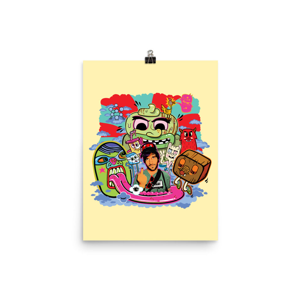 """Me, myself and my friends"" Poster - shop.designhero"