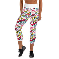 """Bowling"" Yoga Capri Leggings design by Hero. - shop.designhero"