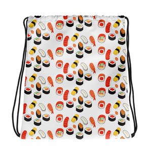"""I love sushis"" Drawstring bag design by Hero. - shop.designhero"