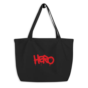 """Hero"" Large organic tote bag - shop.designhero"