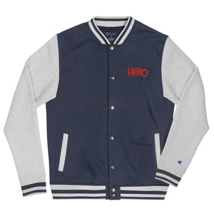 """Hero"" Embroidered Champion Bomber Jacket - shop.designhero"