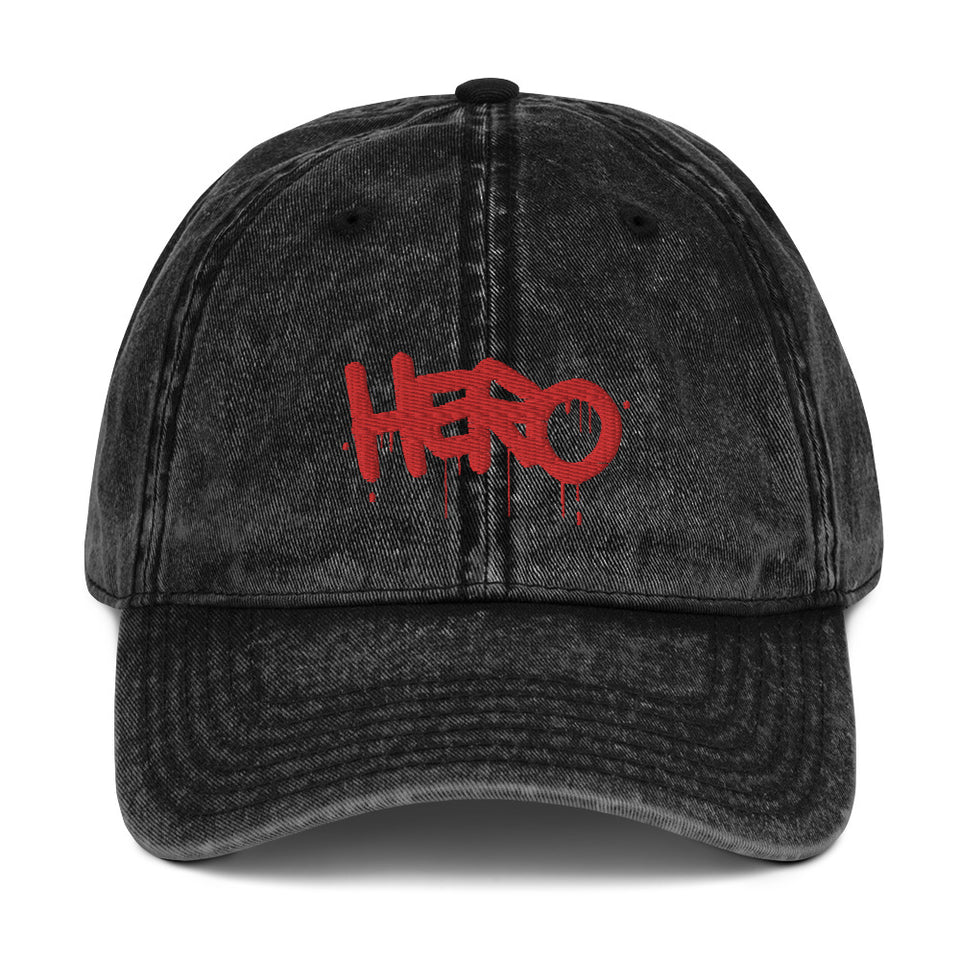 """Hero"" Vintage Cotton Twill Cap - shop.designhero"