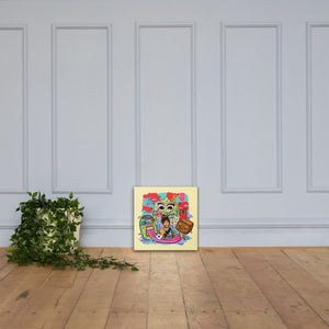 """Me, myself and my friends"" Canvas - shop.designhero"