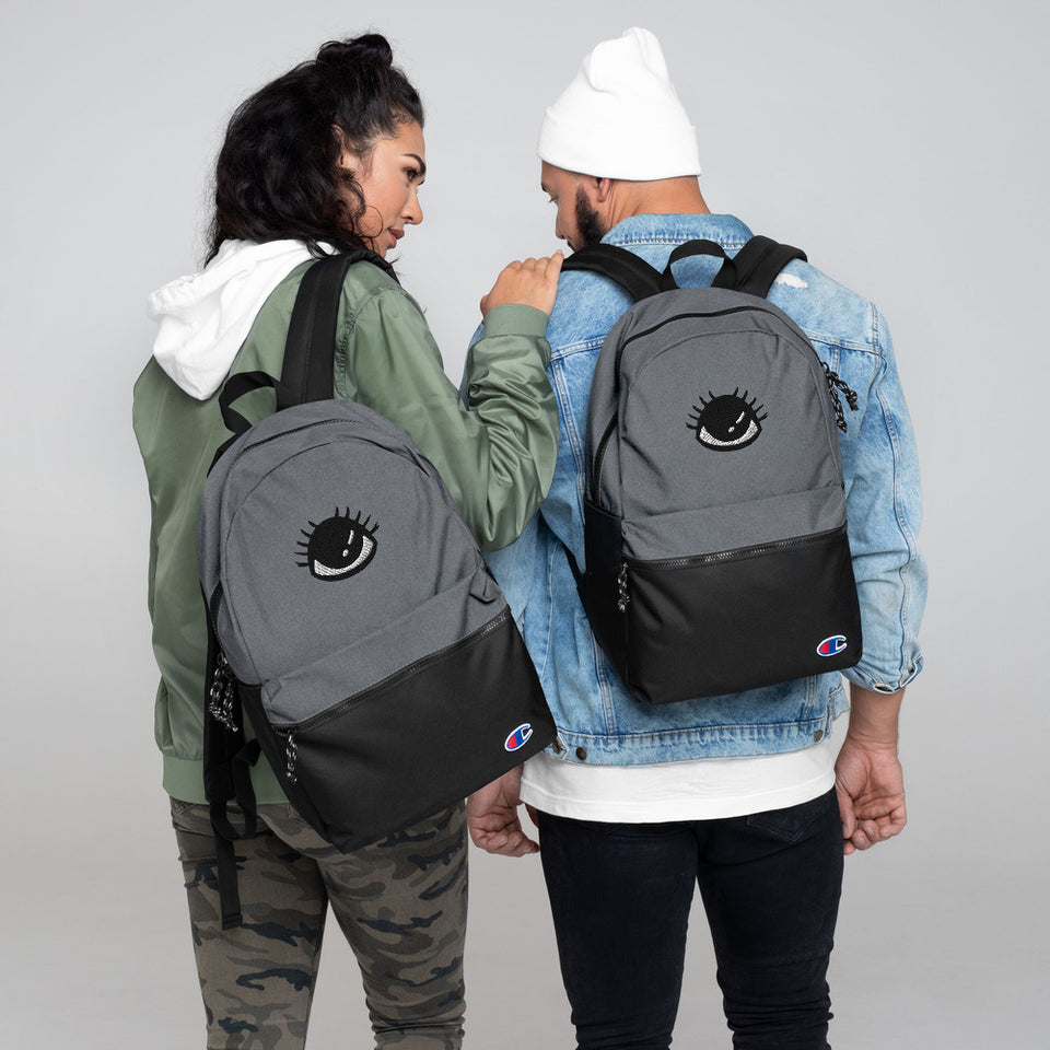 """The Eye ""Embroidered Champion Backpack design by Hero. - shop.designhero"