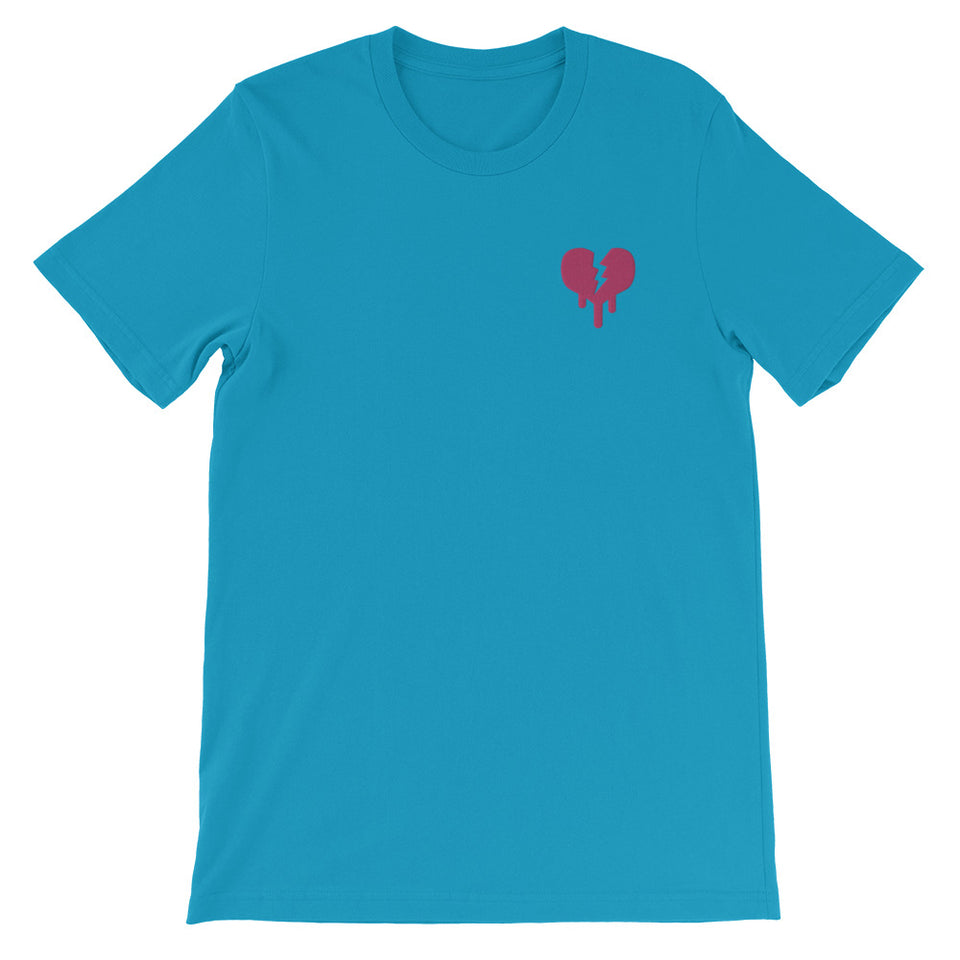 """Broken Heart"" Short-Sleeve Unisex T-Shirt designed by Hero. - shop.designhero"