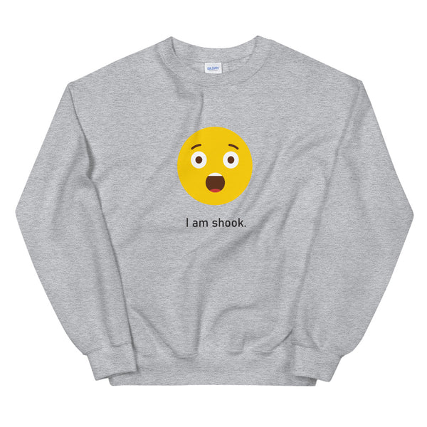 """I am Shook"" Unisex Emoji Sweatshirt - shop.designhero"