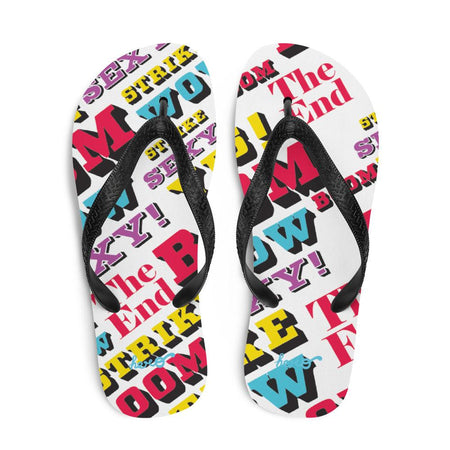 """Pop Art"" Flip-Flops design by Hero. - shop.designhero"