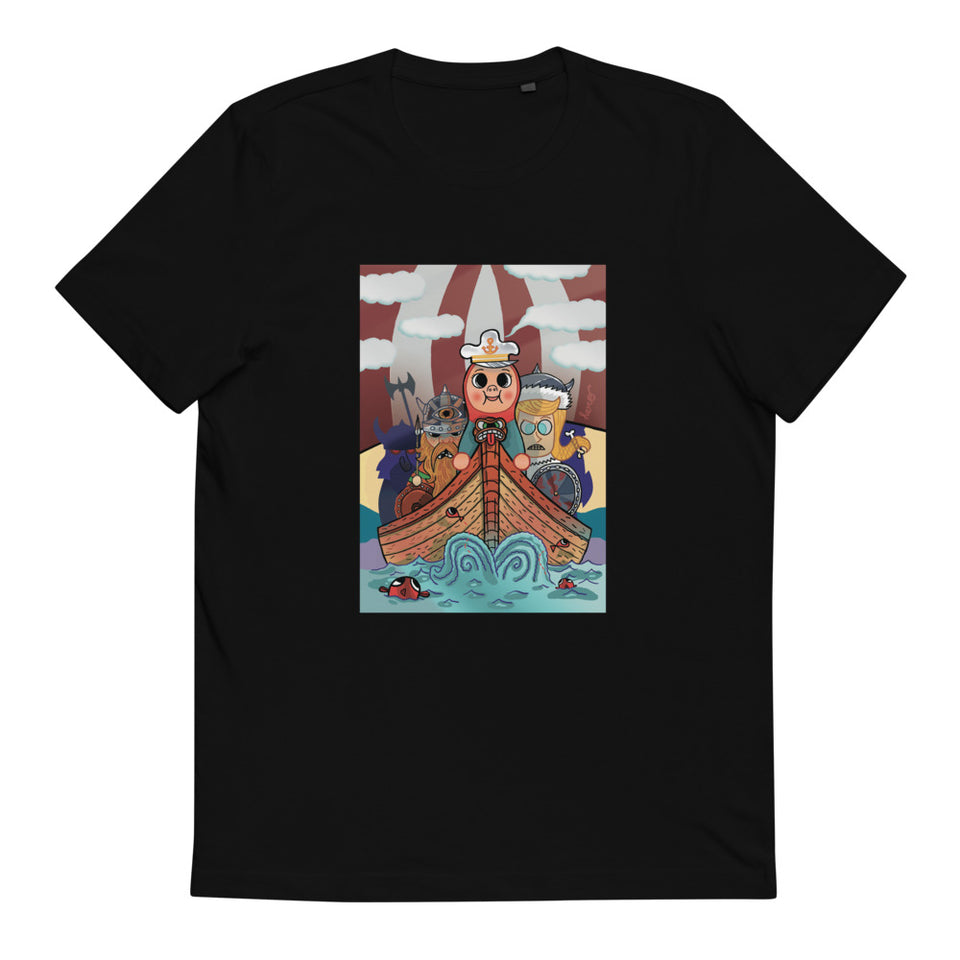 """Vikings"" Unisex Organic Cotton T-Shirt - shop.designhero"