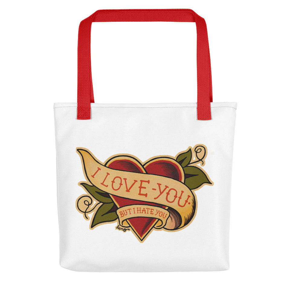 """I Love You But I Hate You"" Tote bag - shop.designhero"