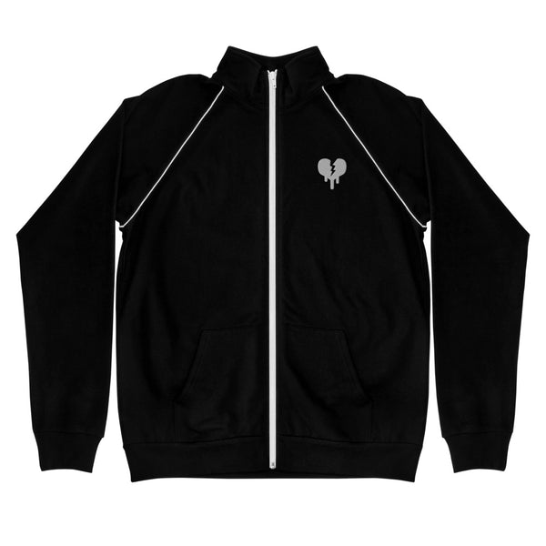 """Broken Heart"" Piped Fleece Jacket design by Hero. - shop.designhero"