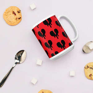 """Broken Heart"" Mug design by Hero - shop.designhero"
