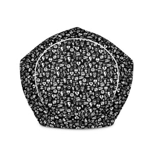 """Skulls"" Bean Bag Chair w/ filling - shop.designhero"
