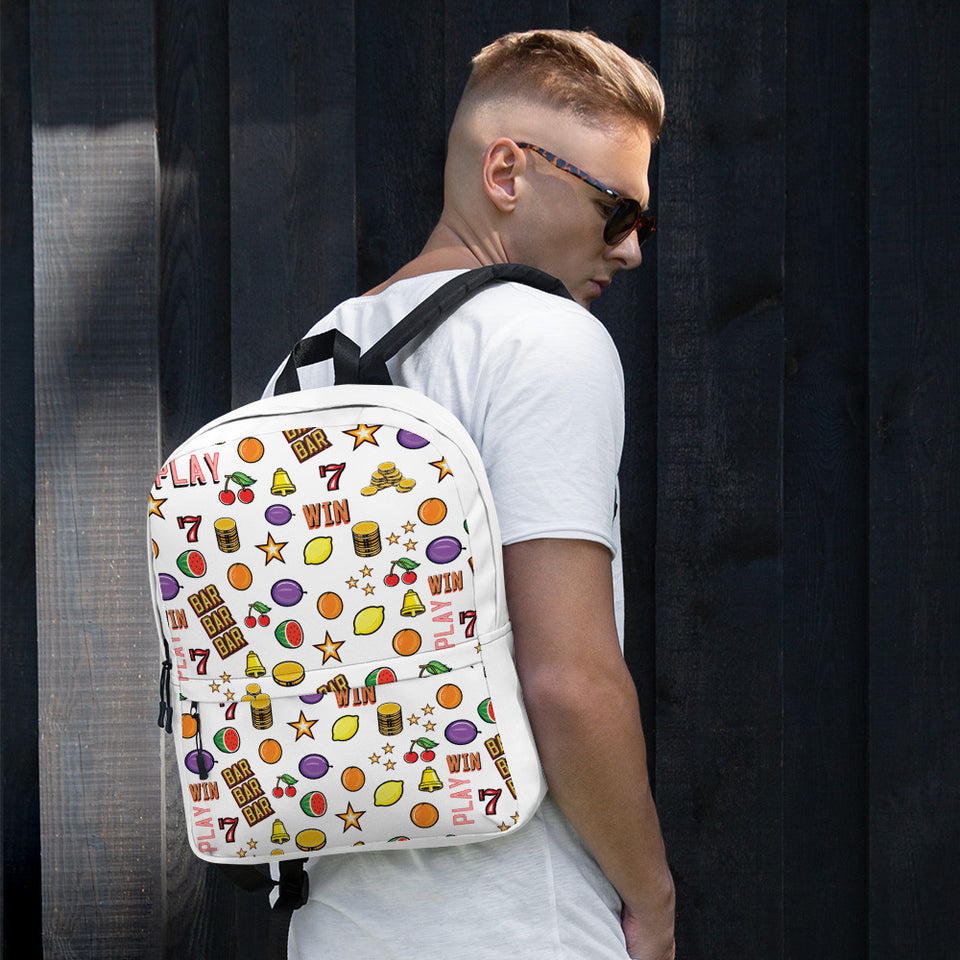 """Casino"" Backpack by Hero. - shop.designhero"