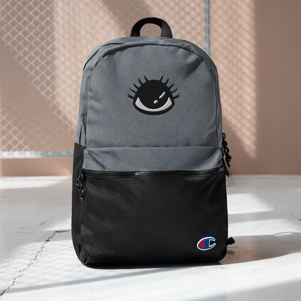 """The Eye ""Embroidered Champion Backpack design by Hero. - Design Hero"