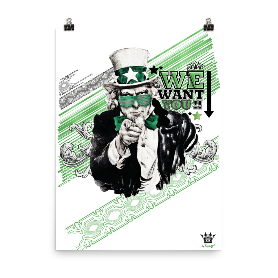 We want you, poster by Hero. - shop.designhero
