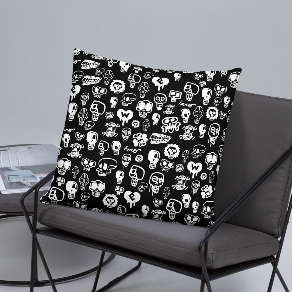 """Skulls"" Basic Pillow by design hero. - shop.designhero"