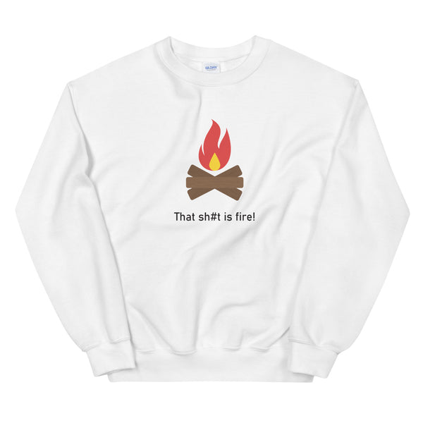"""This Sh#t Is Fire"" Unisex Emoji Sweatshirt - shop.designhero"