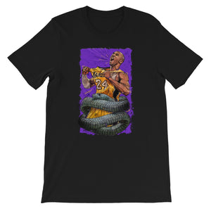 """The Black Mamba"" Hommage to Kobe Bryant. Short-Sleeve Unisex T-Shirt - shop.designhero"