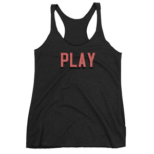 """Play"" Women's Racerback Tank - shop.designhero"
