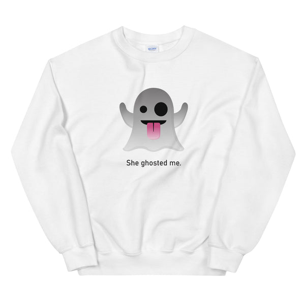 """She Ghosted Me"" Unisex Emoji Sweatshirt - shop.designhero"