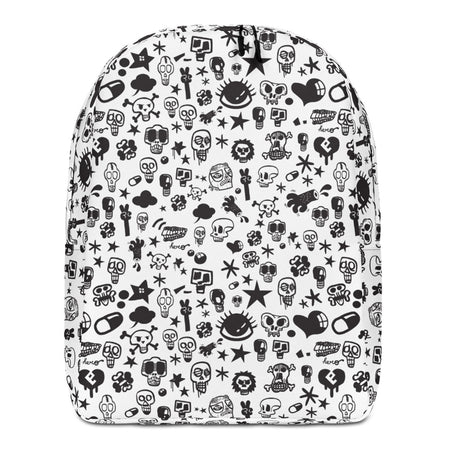 """Skull"" Full Printed Minimalist Backpack - shop.designhero"
