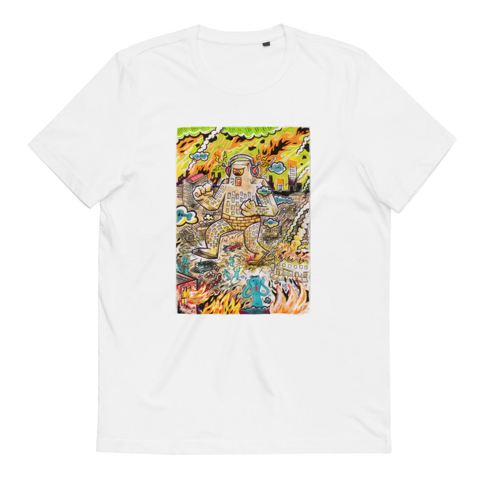 """Rock The Town"" Unisex Organic Cotton T-Shirt - shop.designhero"