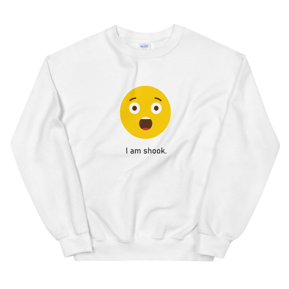 """I am Shook"" Unisex Emoji Sweatshirt - Design Hero"