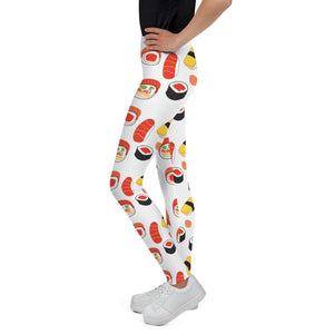 """I love sushis"" Youth Leggings design by Hero. - shop.designhero"