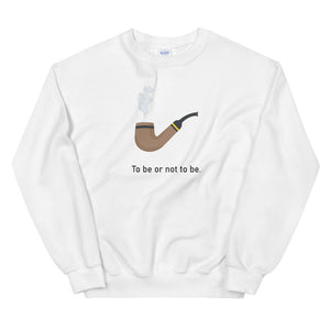 """To Be Or Not To Be"" Unisex Emoji Sweatshirt - shop.designhero"