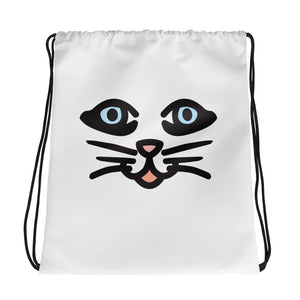 """Cat Eyes"" Drawstring bag design by Hero. - shop.designhero"
