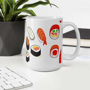 """I Love Sushis"" Mug design by Hero. - shop.designhero"