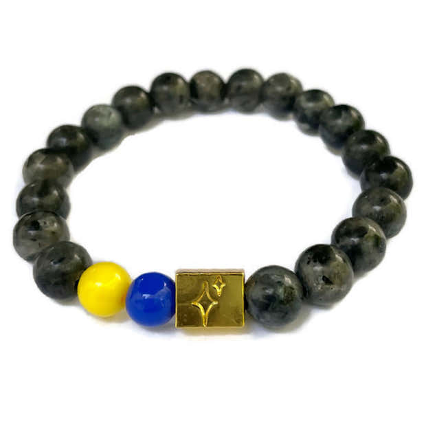 Down Syndrome Acceptance Beaded Bracelet- in Grey 1