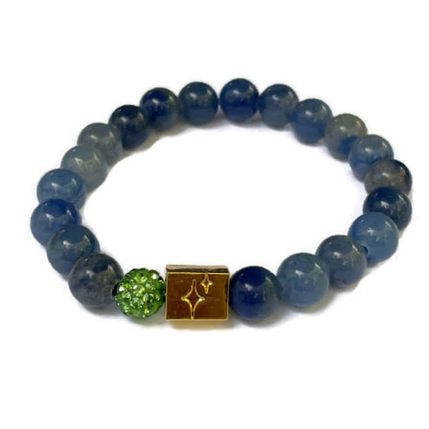 Cerebral Palsy and Muscular Dystrophy Acceptance Beaded Bracelet- in Blue 1