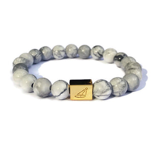 LIMITED SUPPLY Grey Marble Beaded Bracelet